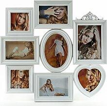 levandeo Bilderrahmen für 8 Fotos Farbe: Weiß -