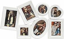 levandeo Bilderrahmen in weiß für 7 Fotos mit