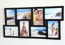 levandeo Bilderrahmen schwarz 8 Fotos 10x15 mit