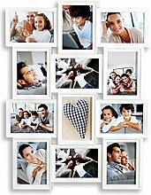 levandeo Bilderrahmen Weiß 12 Fotos 13x18 cm