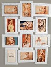 levandeo Bilderrahmen Weiß 70x50cm 12 Fotos 10x15