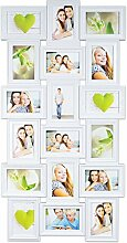 levandeo Bilderrahmen - Weiß für 18 Fotos 10x15