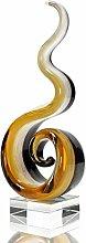levandeo Designer Glas-Figur mit Transparentem