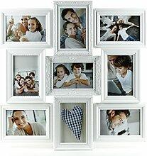 levandeo Fotocollage weiß 50x50cm 9 Fotos 10x15