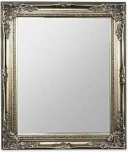 levandeo Großer Wandspiegel aus Holz in Silber -