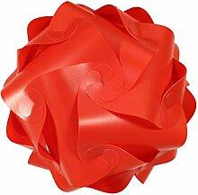 levandeo IQ Puzzle Lampe Retro Farbe: Rot -