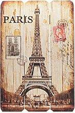 levandeo Schild aus Holz - Holzschild Paris