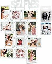 levandeo Selfies Bilderrahmen für 12 Fotos inkl.