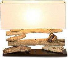 levandeo Tischlampe Treibholz 50x17cm 43cm hoch