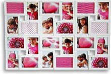 levandeo XXL Bilderrahmen Weiß für 24 Fotos