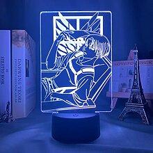 Levi Ackerman Attack on Titan 3D Illusion Lampe