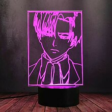 Levi•Ackerman Cool Boy Nachtlicht,