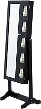 Levivo Schmuckschrank mit 2 Türen, schwarz