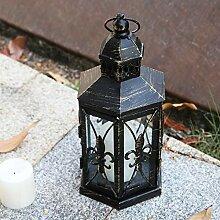 Lewondr Laterne Kerzenhalter, Klein Größe Antik