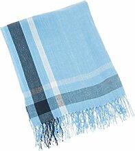 Lexington Company Decke Spring 130 x 170 cm Blau / Weiß