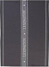 LEXINGTON Sterne Küche Handtuch, grau/weiß