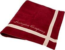 Lexington Tagesdecke Wolle Bett 90 cm Rot/Beige