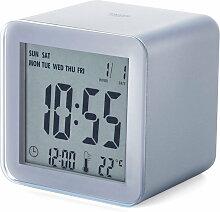 Lexon - Cube Sensor LCD Wecker, Aluminium