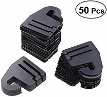 LEXPON 50 Stück Kunststoff Krawattenbügel Haken