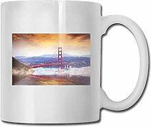 Leyhjai Porzellan Kaffeebecher Bridge Mountain