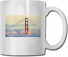 Leyhjai Porzellan Kaffeebecher Bridge Street Weiß