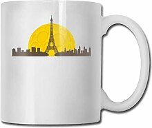 Leyhjai Porzellan Kaffeebecher Eiffelturm Keramik