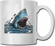 Leyhjai Porzellan Kaffeebecher Hai Wassertropfen