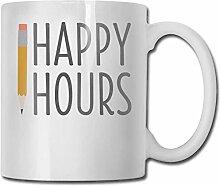 Leyhjai Porzellan Kaffeebecher Happy Hours Keramik
