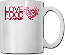 Leyhjai Porzellan Kaffeebecher Love Food Keramik