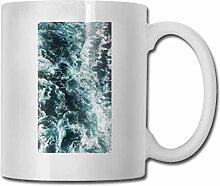 Leyhjai Porzellan Kaffeebecher Sea Wave Keramik