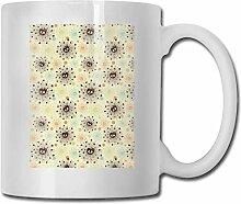 Leyhjai Porzellan Kaffeebecher Skull Line Gelb