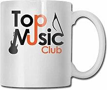 Leyhjai Porzellan Kaffeebecher Top Music Club