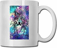 Leyhjai Porzellan Kaffeebecher Wolf Galaxy Keramik