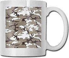 Leyhjai Porzellan Kaffeetasse Camouflage Grau