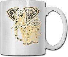 Leyhjai Porzellan Kaffeetasse Elefant Tiermuster