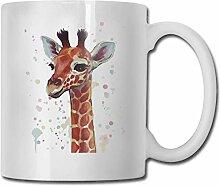 Leyhjai Porzellan Kaffeetasse Giraffe Kopfdruck