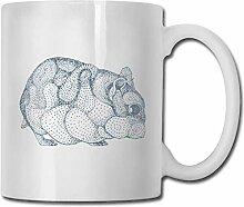 Leyhjai Porzellan Kaffeetasse Hamster Tierform