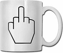 Leyhjai Porzellan Kaffeetasse Mittelfingerzeichen