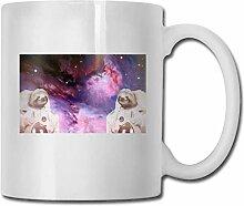 Leyhjai Porzellan Kaffeetasse Space Sloth Keramik