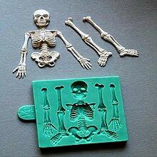 LEYUANA Skelett Halloween Skelett Körper, Fondant