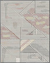 LEZ-Teppich Chic Stripes Design Anti-Rutsch-Teppich Wohnzimmer Schlafzimmer Couchtisch Sofa Leicht zu Reinigen Teppich Drei Größen erhältlich (Größe : 120x160cm)