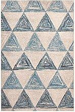 LEZ-Teppich Dunkelgraue Mode Geometrische Muster