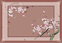 LEZ-Teppich Einzigartige Blume und Schmetterling