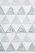 LEZ-Teppich Hellgrau Geometrische Muster Teppich Wohnzimmer Couchtisch Schlafzimmer Sofa Einfach zu Reinigen Rechteckigen Rutschfesten Teppich (Größe : 120x160cm)
