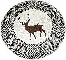 LEZ-Teppich Kreative Handarbeit Runde Teppich