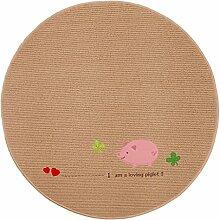 LEZ-Teppich Mode Stickerei Muster Runde