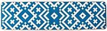 LEZ-Teppich Moderne Blaue Geometrische Design Flur