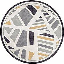 LEZ-Teppich Nordic Geometrische Runde Teppich