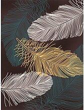 LEZ-Teppich Romantische Feder Muster Design