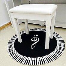 LEZ-Teppich Schwarz und Weiß Klaviertastatur